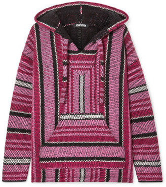 Adaptation - Baja Striped Cashmere Hoodie - Pink