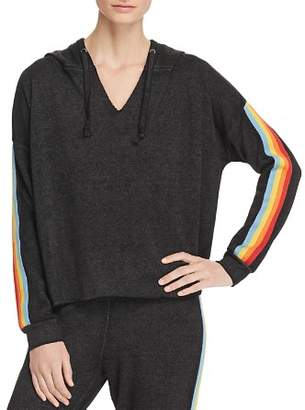 Vintage Havana Rainbow-Trim Hooded Sweatshirt