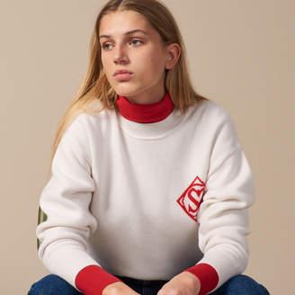 Sandro Round neck sweater with logo