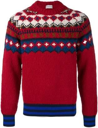 Moncler intarsia knit jumper