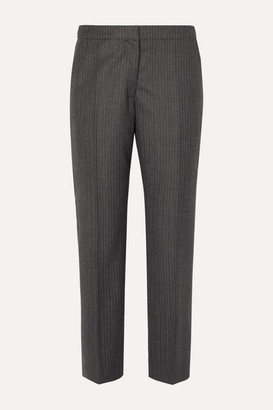 Dries Van Noten Poumas Pinstriped Wool Tapered Pants - Dark gray