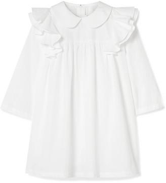 Comme des Garcons Ruffled Cotton-poplin Blouse - White