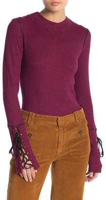 Free People Mountaineer Cuff Mock Neck