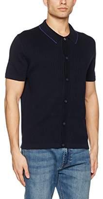 Ben Sherman Men's Ss Button Through Polo T-Shirt
