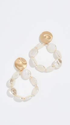 Reliquia Flat Imitation Pearl String Earrings