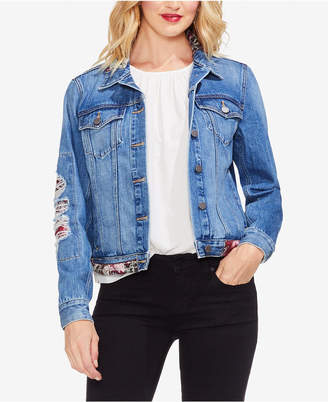 Vince Camuto Cotton Patchwork Denim Jacket