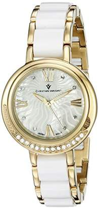 MOP Christian Van Sant Women's CV7611 Analog Display Quartz Two Tone Watch