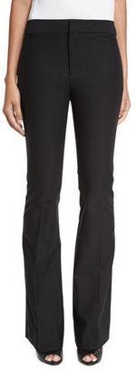Derek Lam 10 Crosby Stretch Flare Trousers, Black $345 thestylecure.com