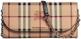 Burberry Haymarket check chain wallet