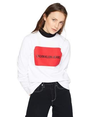 Calvin Klein Jeans Women's Institutional Logo Crew Neck Sweatshirt