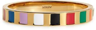 J.Crew Rainbow Stripe Enamel Hinge Bracelet
