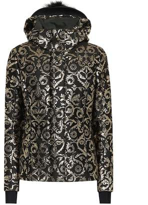 Fendi Fur-trimmed jacquard ski jacket