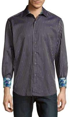 Robert Graham Alderaan Striped Diamond Shirt