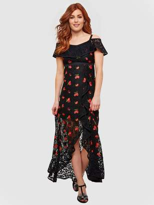 56e20f713d0 Joe Browns Fruity Flamenco Lace Dress - Black