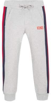 Kenzo Drawstring Sweatpants w/ Striped Taping, Size 8-12
