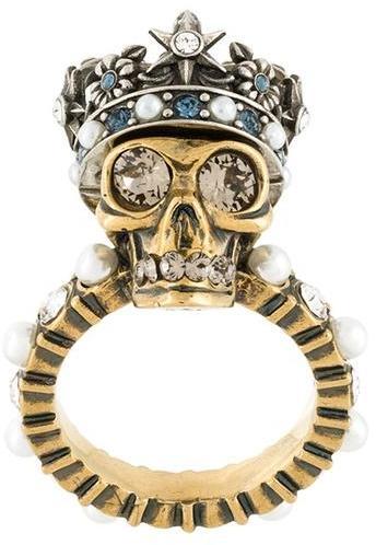 Alexander McQueenAlexander McQueen 'King Skull' ring