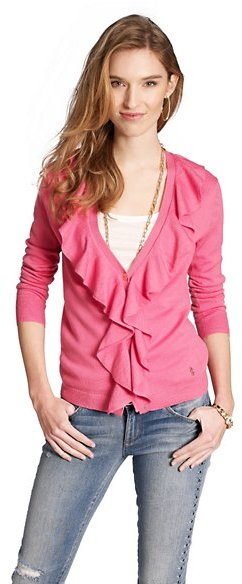 Juicy Couture Ruffle Front Cardigan