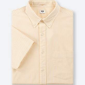 Uniqlo MEN Dry Seersucker Striped Short Sleeve Shirt