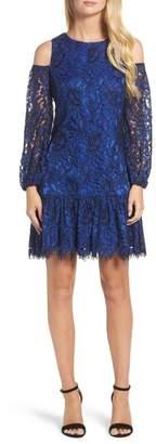 Eliza J Lace Cold Shoulder Dress