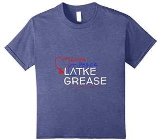 Love Peace & Latke Grease Shirt Chanukah Gift