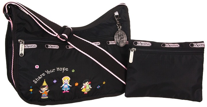 Le Sport Sac Classic Hobo With Charm (Share Your Hope) - Bags and Luggage