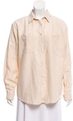Mara Hoffman Linen Button-Up Top