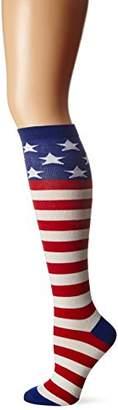 K. Bell Women's American Flag Knee High,9-11