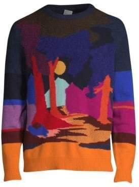 Paul Smith Dreamer Landscape Intarsia Sweater