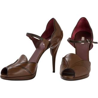Miu Miu Brown Leather Heels