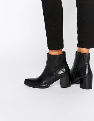 Bronx Point Heeled Leather Ankle Boots $94 thestylecure.com