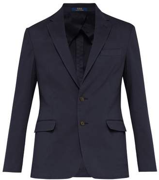Polo Ralph Lauren Single Breasted Cotton Blend Blazer - Mens - Navy