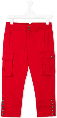 DSQUARED2 button-embellished cargo trousers