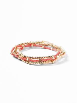 Old Navy 5-Piece Beaded Bracelet Set for Women