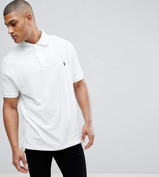 Polo Ralph Lauren Big & Tall Pique Polo Player Logo In White