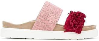 Inari colourblock fringe sandals