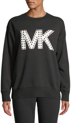 MICHAEL Michael Kors Studded Logo Graphic Sweatshirt