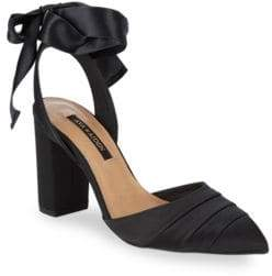 Ava & Aiden Satin Bow Pumps
