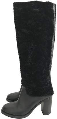 McQ Black Leather Boots