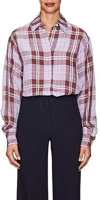 Victoria Beckham Women's Plaid Plain-Weave Blouse
