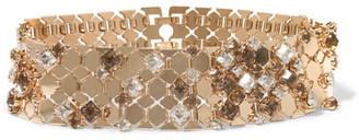 Lanvin - Gold-tone Swarovski Crystal Choker - one size $1,495 thestylecure.com