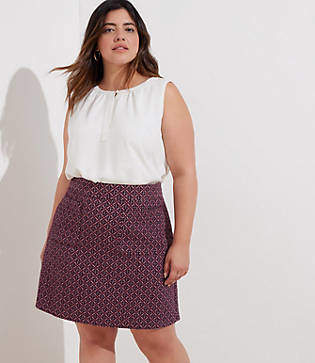 LOFT Plus Diamond Jacquard Knit Pocket Skirt
