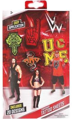 WWE Temporary Tattoos