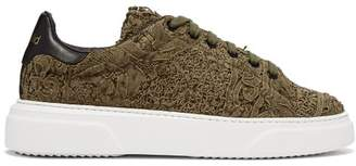 By Walid 19th Century Panelled Low Top Trainers - Mens - Khaki