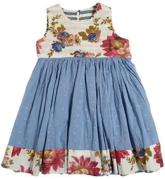 Reversible Cotton Oxford & Linen Dress