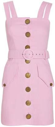 Nicholas Twill Button Front Sleeveless Dress