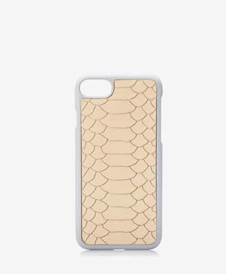 GiGi New York iPhone 7 Hard-Shell Case, Almond Embossed Python