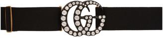 Gucci Black Crystal GG Belt