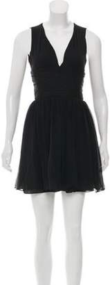 Elizabeth and James Sleeveless Silk Dress Black Sleeveless Silk Dress