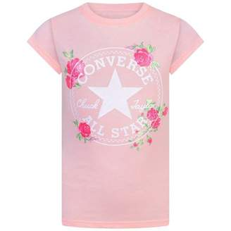 Converse ConverseGirls Pink All Star Rose Print Top