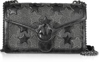 Pinko Love Starry Black Shoulder Bag w/ Studded Stars